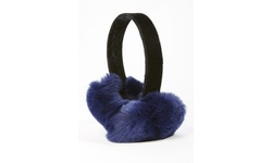 Adrienne Landau Rabbit Ear Muffs - Navy- One Size