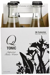 Q Tonic 8 oz. Water Tonic Agave Bottles - Pack of 4