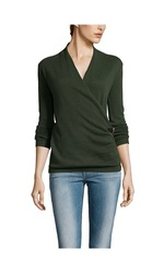Gabriella Rossi Buckle Wrap Sweater - Green Nature - Size: Large