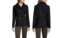 Kenneth Cole New York Women's Wool Blend Peacoat - Black - Size: 6