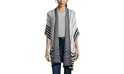 Cliche Women's Long Sleeve Oversized Cardigan - Grey/Black - Size: XS