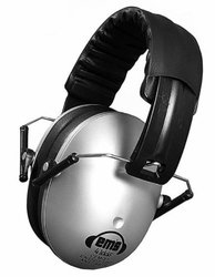 Em's 4 Kids Hearing Protection Earmuffs Noise Protection (Silver)