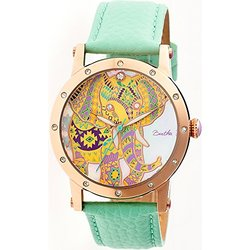 Bertha Betsy: BR5704 Band-Mint/Case-Rose Gold/Dial-Multi-Colored