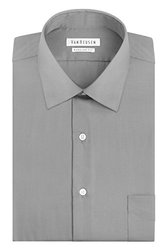 Van Heusen Men's Lux Sateen Dress Shirt - Grey - Size: 16x34/35