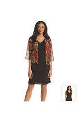 S.L. Fashions Two Piece Animal Print Dress