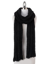 Collection Xiix Women's 18 Solid Color Oversized Sequin Wrap - Black