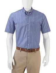Dockers Men's Folded Shadow Striped Woven Shirt - Dark Blue - Size: M