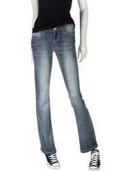 Sound Girl Women's Embellished Bootcut Jeans - Blue - Size: 13