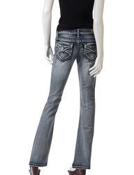 Wishful Park Girls Potassium Wash Bootcut Jeans - Dark Blue - Size: 7