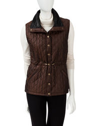 Hannah Women's Solid Color Iridescent Anorak Vest - Bronze - Size: Large