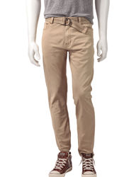 Rustic Blue Men's Jackson 5 Pocket Twill Pants - Beige - Size: 30X30