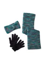 Steve Madden Women's 2-pc. Loop Scarf & Glove Set - Grey - One Size