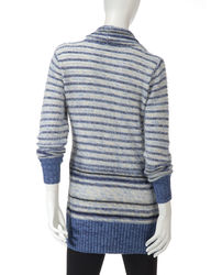 United States Women's Striped Feather Sweater - Blue - Size: Small