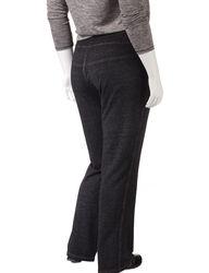 Silverwear Women's Plus-size Mineral Wash Lounge Pants - Black - Size: 3X