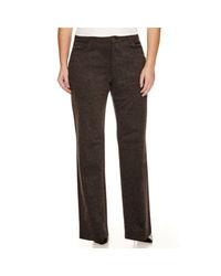 Gloria Vanderbilt Women's Amanda Ponte Pants - Heather Grey - Size: 16W