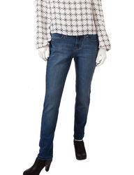 Earl Jean Petite Skinny Bling Jeans - Medium Blue - Size: 6P