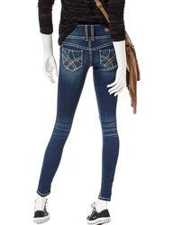 YMI Women's Wanna Betta Butt 3 Button Jeans - New Blue - Size: 7