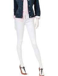 YMI Women's Triple Button Ankle Solid Color Pants - White - Size: 7