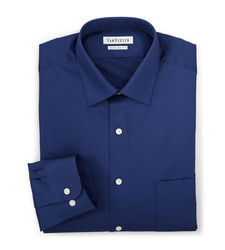 Van Heusen Men's Solid Color Lux Dress Shirt - Blue - Size: 16 X 32/33