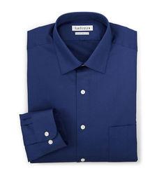 Van Heusen Men's Lux Sateen Dress Shirt - Blue Velvet - Size: Medium