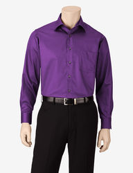 Van Heusen Men's Juniper Lux Sateen Dress Shirt -L Purple - Size: L
