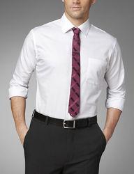 Van Heusen Men's Lux Solid Color Dress Shirt - White - Size: 17-1/2x32/33