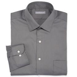"""Van Heusen Men's Solid Color Lux Dress Shirt - Grey - Size: 15"""""""