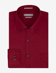Van Heusen Men's Lux Solid Color Fitted Dress Shirt - Red - 17 1/2 X 32/33