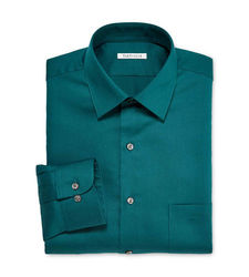 "Van Heusen Men's Lux Sateen Dress Shirt - Teal - Size: 34""-35"""