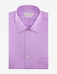 Van Heusen Men's Solid Color Lux Dress Shirt - Lilac - Size:15 1/2 X 32/33