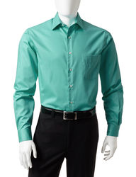 Van Heusen Men's Solid Color Lux Dress Shirt - Green - Size:15 1/2 X 34/35