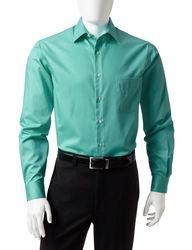Van Heusen Men's Solid Color Lux Dress Shirt - Green - Size:16 1/2 X 34/35