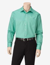 Van Heusen Men's Lux Dress Shirt - Green - Size: 16-1/2 x 32/33