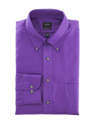 Arrow Men's Solid Color Dress Shirt - Violet - Size: 17 x 34/35