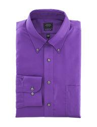 Arrow Men's Solid Color Dress Shirt - Violet - Size: 18 X 34/35