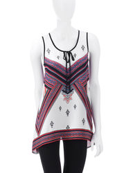 Signature Studio Women's Bandana Sharkbite Top - Ivory - Size: Small