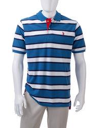 U.S. Polo Assn. Men's Stripe Polo - Blue - Medium