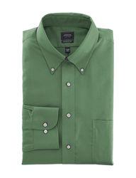 Arrow Men's Solid Color Dress Shirt - Forest - Size: 17 X 34/35