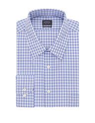 Arrow Men's Gingham Plaid Dress Shirt - Blue - Size: XL