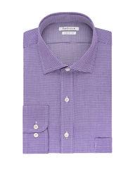 "Van Heusen Men's Iris Lux Sateen Dress Shirt - Lavender - Size: 17.5"""