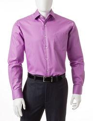 Van Heusen Men's Solid Color Fitted Lux Dress Shirt - Violet - Sz:15X32/33