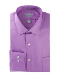 Van Heusen Men's Lux Dress Shirt - Violet - Size: 15-1/2 x 34/35