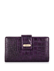 Buxton Nile Exotics Heritage Super Wallet - Purple - Size: One