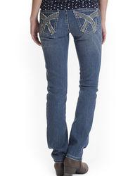Unionbay Carsyn Medium Wash Belted Straight Jeans - Blue - Sz: 11
