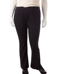 Silverwear Women's Solid Color Black Yoga Pant - Black - Size: 1X