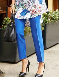"Valerie Stevens Women's Bond Zip Pocket 18"" Ankle Pants - Blue - Size: 12"