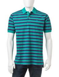 U.S. Polo Assn. Men's Thick Bar Striped Polo Shirt - Green - Size: Small
