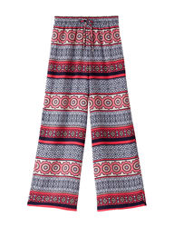 My Michelle Big Girls Geometric Soft Pants - Red - Size: Large