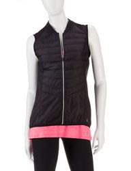 RBX Women's Solid Color Performance Zip Up Vest - Black - Size: M