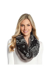 Free Spirit Women's Paisley Ribbon Scarf - Multi - Size: One Size